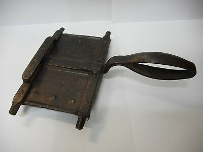 "Antique Early 1800""s Acier Stella France Horse Grooming Curry Comb"