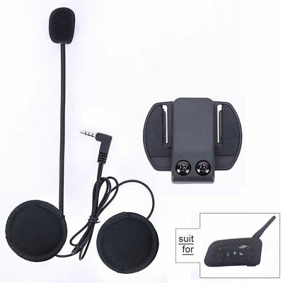 Hard Headset Helmet Clip Earphone Speaker Mic For V6 V4 BT Motorcycle Intercom