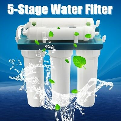 5 Stage Reverse Osmosis Drinking Water System RO Home Purifier Filter Faucet