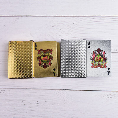 Waterproof Silver 3D Embossing Poker Cards Advanced Plastic Playing Card Fad UQ