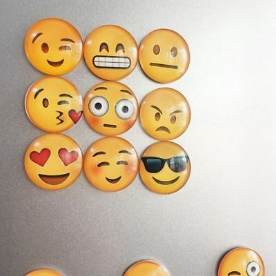 Home Round Random Magnets Cartoon Expression Fridge Cabochon Magnetic Stickers