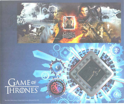 2018 coin cover; Game of Thrones Dark Forces ; Royal Mail Medallic; PNC; free pp