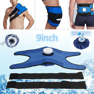 Pain Relief Reusable Ice Bag Compress Cold Therapy & Wrap Set Knee Shoulder Back