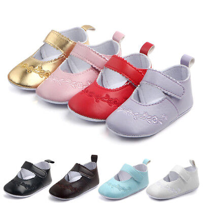 0-12M Newborn Baby Girl Crib Pram Shoes Kids Soft Sole Anti Slip Walkers Sneaker