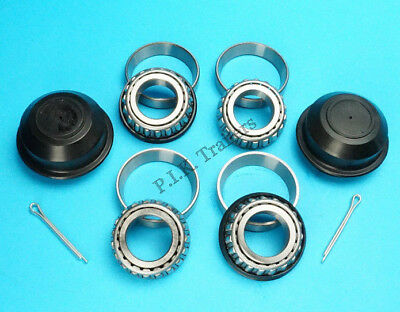 1 Axle Wheel Bearing Kit L44643 44610 with 50mm Dust Caps & Split Pins #KIT120