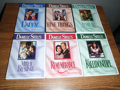 Danielle Steel's DVD LOT DADDY REMEMBRANCE JEWEL MIXED BLESSINGS 6 DVD'S