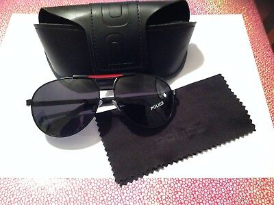 Police engraved sunglasses with case and lens cloth