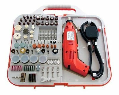 162Pc Rotary Mini Drill Bit Set Electric 130W + Storage Case Dremel Cutter New