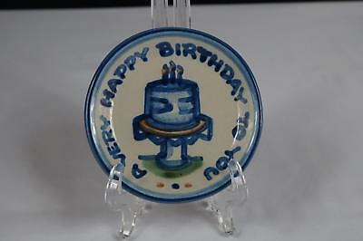 """M A Hadley Country Scene Coaster - """"a Very Happy Birthday To You""""  - 4-1/4"""""""