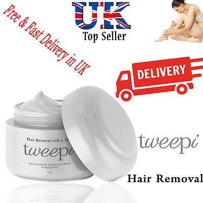 Tweepi Permanent Body & Face Hair Removal Inhibitor Ant Egg Cream Paraben 50g