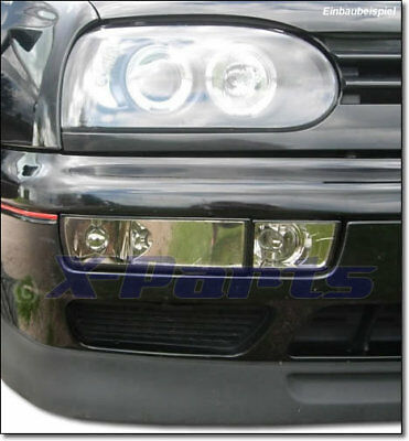 VW Golf 3 Blinker Frontblinker KLARGLAS CHROM + NSW Blende