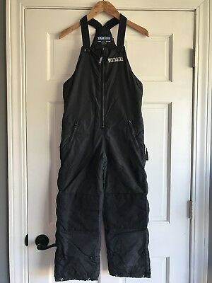 Yamaha Snowmobile Cold Weather Gear Snow Bibs Black Youth Boys Medium