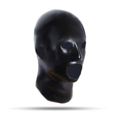 LatexDreamwear - 100% Latexmaske Latex Haube schwarz rubber Mask getaucht0,5 mm