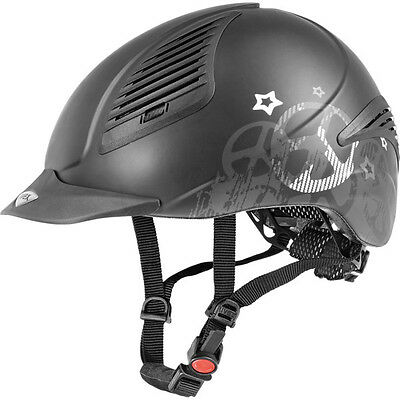 Uvex EXXENTIAL PEACE Light Hard Riding Helmet Adjustable Hat KiteVG1 Black XXS-L