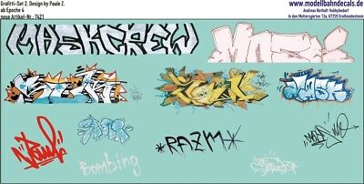 Graffiti-Set 7, Design by Paule Z., 11 bunte Elemente (087-7421)
