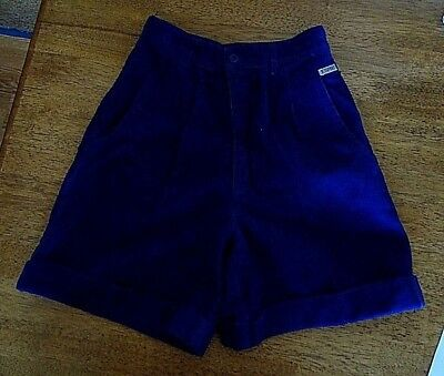 Women's Retro 80's ESPRIT Blue High-Waisted  Corduroy Shorts SZ 10 UK   SZ 0 US