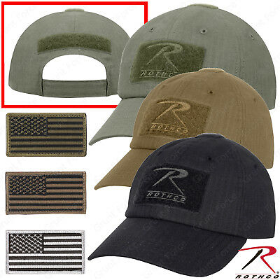 Rip Stop Operator Tactical Cap - Military Style Baseball Hat w  U.S. Patch 8962a2f187a