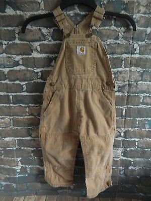 Carhartt Toddlers 2T Tan Brown Overalls