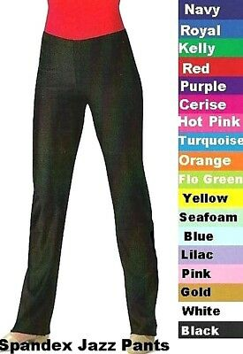Dance Team Costume LONG PANTS Spandex Yoga Jazz Color Choices Child and Adult