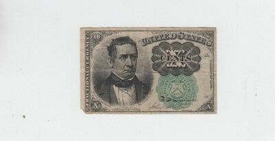 Fractional Currency Civil War Era Item fine missing corner