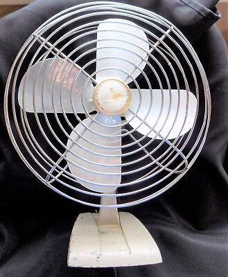 "Vintage Wizard Imperial Metal Fan 10"" Western Auto Supply Co WORKS Mid Century"