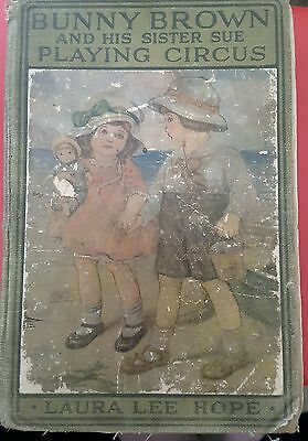 Vintage 1916 Bunny Brown & His Sister Sue Playing Circus Hc Book