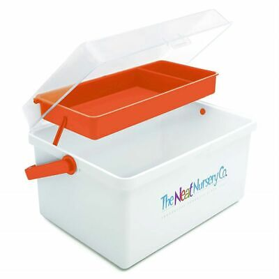 The Neat Nursery Co. Baby Bath Essentials / Shampoo Box Organiser White / Orange