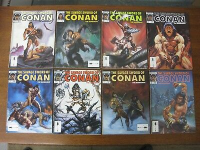 SAVAGE SWORD OF CONAN LOT OF 8 ISSUES - #'s 156 through 163 - FN+ to FN/VF RANGE