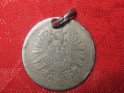 VINTAGE ANTIQUE AUTHENTIC 1800's GERMAN GERMANY  EAGLE COIN PENDANT NECKLACE