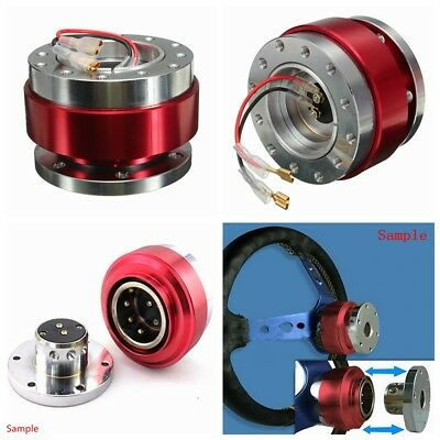 Universal Car Red Steering Wheel Quick Release Hub Adapter Snap Off Boss Kit US