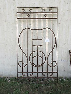 Antique Victorian Iron Gate Window Garden Fence Architectural Salvage #794