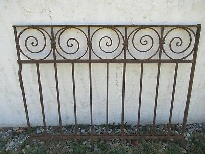 Antique Victorian Iron Gate Window Garden Fence Architectural Salvage Door #011
