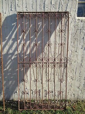 Antique Victorian Iron Gate Window Garden Fence Architectural Salvage Door #037