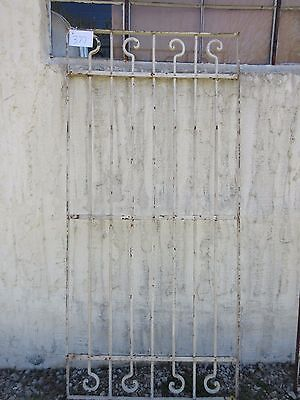 Antique Victorian Iron Gate Window Garden Fence Architectural Salvage Door #377