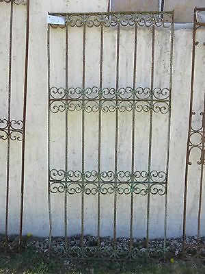 Antique Victorian Iron Gate Window Garden Fence Architectural Salvage Door #382