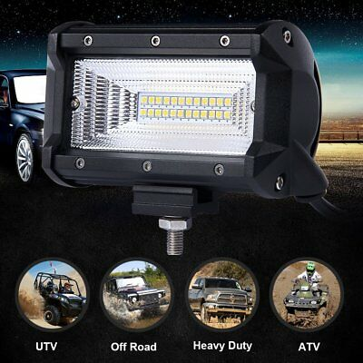 Pair 6in 120W OSRAM Cree Combo Flood Beam OffRoad LED Work Driving Light Pod 4WD