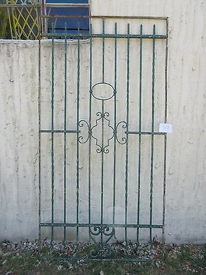 Antique Victorian Iron Gate Window Garden Fence Architectural Salvage #778