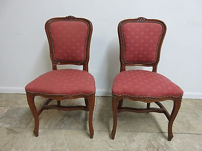Antique French Regency Carved Dining Room Living Room Desk Side Chair   D
