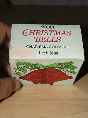 Ruby blood red almost full Charisma cologne Christmas gold top Avon bells