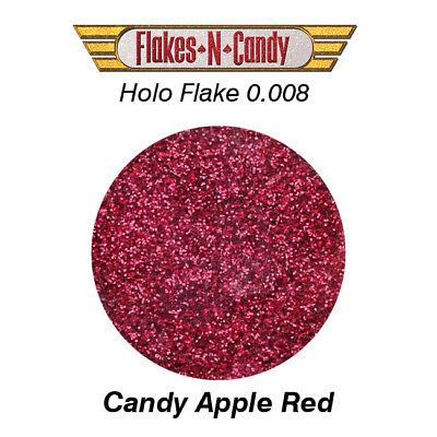 METAL FLAKE HOLO CANDY APPLE RED GLITTER (0.008) METAL FLAKES 30G (1oz)