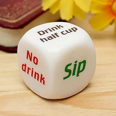 NEW 1Pc Funny Party Drinking Dice Decider Game Pub Toy Funny Adult Stag Hen Gift