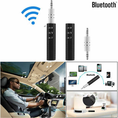 Wireless Bluetooth AUX Audio Stereo Music Home Car Receiver 3.5mm Adapter