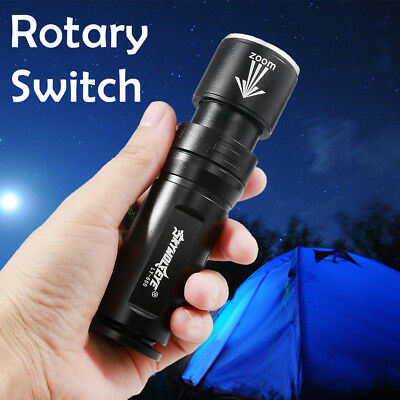 15000LM Zoom Focus T6 LED 2Modes 26650/18650 Tactical Military  Flashlight Torch
