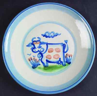 M A Hadley COUNTRY SCENE BLUE Cow Luncheon Plate 5757472