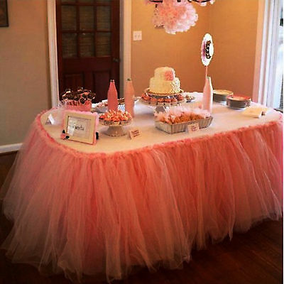 50x100cm Tulle TUTU Table Skirts Cover Tableware Wedding Party Table Cloth Decor