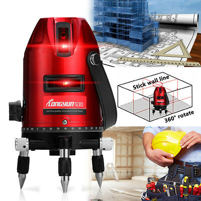 360° Rotary Self Leveling Laser Level Measure Tool 5 Line 6 Point Professional