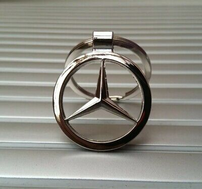 Mercedes Benz High Quality 3D Chrome Keyring / Keychain Fob A B C E M Class