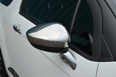 Chrome Wing Mirror Trim Set Covers To Fit Citroen C4 (2010+)
