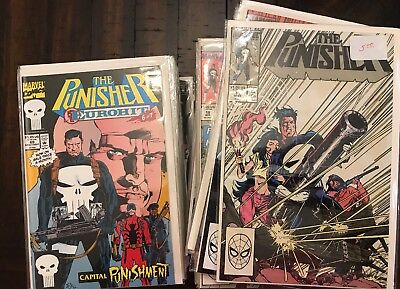 the Punisher (vol.2 1987 Marvel) #11- 104 lot not complete