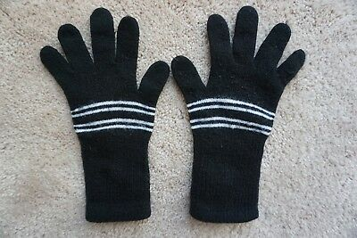 Kids Winter Black Knit Gloves